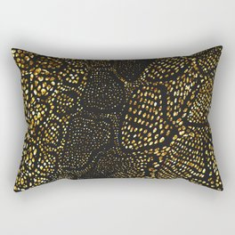 Black Gold Snake Skin Rectangular Pillow