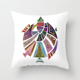 Fish geometric pattern Throw Pillow