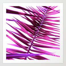 purple palm leaf IV Art Print