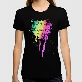 Sometimes all you need is a little splash of color! n.1 T-shirt