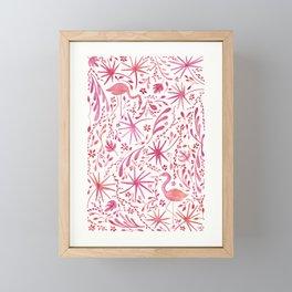 Flamingos at the Beach Framed Mini Art Print