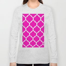MOROCCAN PINK AND WHITE PATTERN Long Sleeve T-shirt