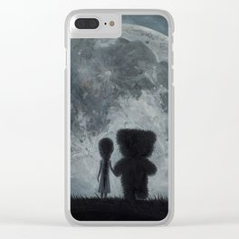 Take Me to The Moon Clear iPhone Case