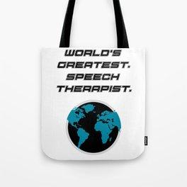 Speech Teacher Gifts Speech Therapy Tote Bag