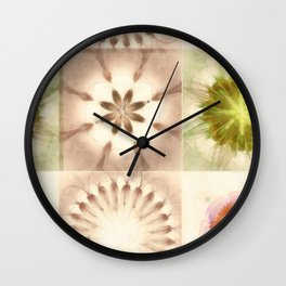 Cagelings Proportion Flowers  ID:16165-120212-27450 Wall Clock