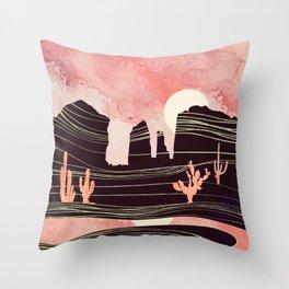 Rose Desert Throw Pillow