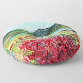 Long Lake, Alaska Floor Pillow