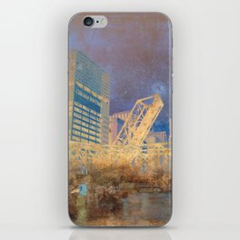 Drawbridge Chicago River City Skyline iPhone Skin
