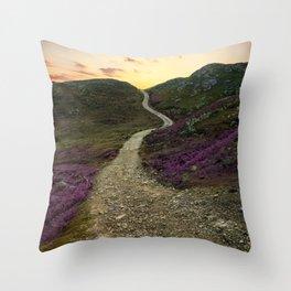 Sunset at Skye Island Throw Pillow
