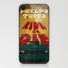 MEKANO TURBO/ride or die poster iPhone & iPod Skin