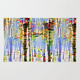 Winter Woods Abstract Rug