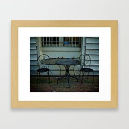 Table for 2 Framed Art Print