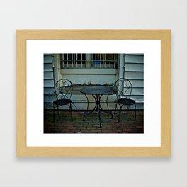 Table for 2 Framed Art Print