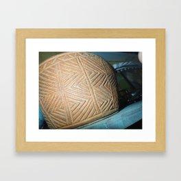 Wooden carving southwest Framed Art Print