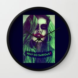 Why so serious? Denise Richards joker make up Wall Clock