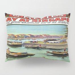 Vintage poster - Singapore Pillow Sham