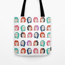 Hairstyles print Tote Bag