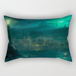 Haunted Fishing Village Rectangular Pillow