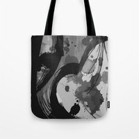 reassurance Tote Bags featuring Ink III by Magdalena Hristova