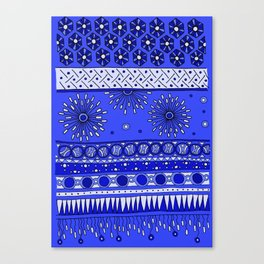 Yzor pattern 007-2 blue Canvas Print