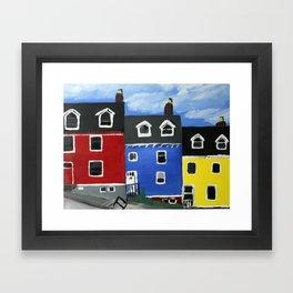 Newfoundland Houses Canada acrylics on canvas Framed Art Print