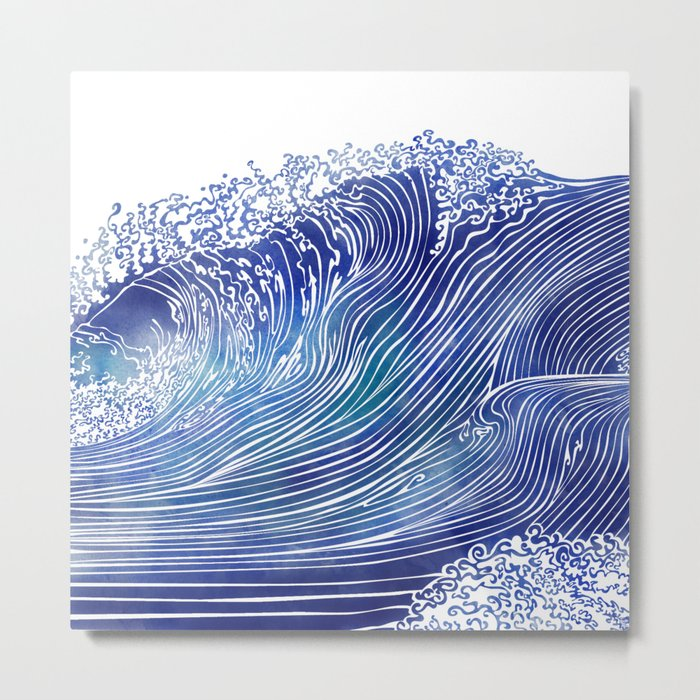 Pacific Waves Metal Print
