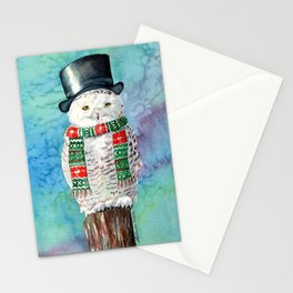 Snowman Owl Stationery Cards