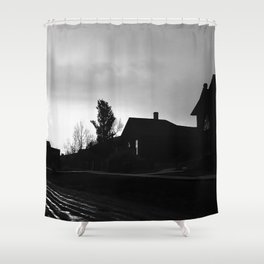 Silhouetted Stillness Shower Curtain