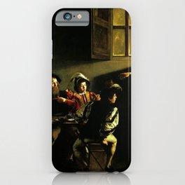 Michelangelo Merisi da Caravaggio - The Calling of St Matthew iPhone Case