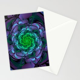 Beautiful Purple & Green Aeonium Arboreum Zwartkop Stationery Cards