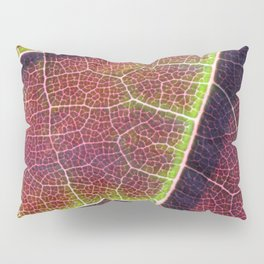 Leafy burgundy and green macro texture Pillow Sham