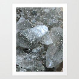 Pyrite in Calcite Art Print