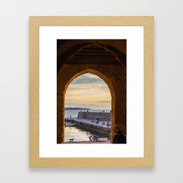 Sunset in Cefalu Framed Art Print