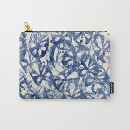 Organic Abstract in Blue Carry-All Pouch
