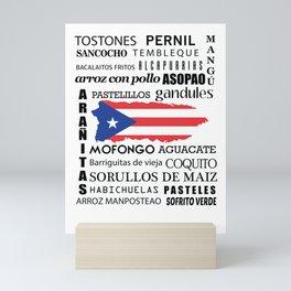 Puerto Rican foody & cousine boricua Mini Art Print