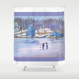 Lake Banook in Winter Shower Curtain
