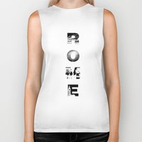 rome Biker Tanks featuring ROME by Candace Fowler Ink&Co.