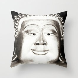 Esotropic Buddha Throw Pillow
