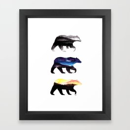 3 Bears Framed Art Print