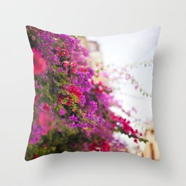 Pink and Lilac Throw Pillow