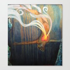 An Image of Dying Canvas Print