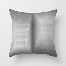 Binary Rooms Throw Pillow