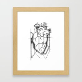 Picasso's Heart (a Cubist's dream) Framed Art Print