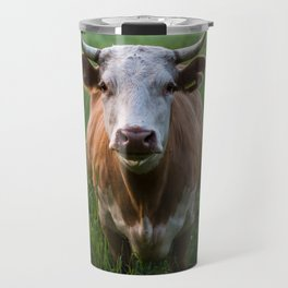 COW - FIELD - GREEN - VALLEY - NATURE - PHOTOGRAPHY - LANDSCAPE Travel Mug
