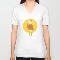 sushi V-neck T-shirts featuring Sushi by Patricia Santos