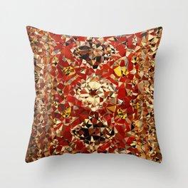 Shirvan Carpet Low Poly Geometric Triangle Art Throw Pillow