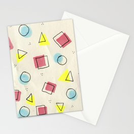 pastel shapes Stationery Cards