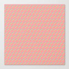 80's Pastel Stripes on Pink  /// www.pencilmeinstationery.com Canvas Print
