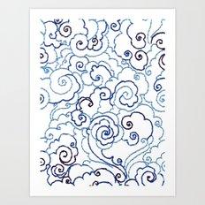 Embroidery Sky Art Print