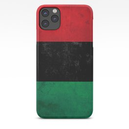 Distressed Afro-American / Pan-African / UNIA flag iPhone Case
